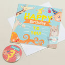 'Wow You're' Themed Birthday Card and Personalised Badge additional 3