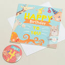 'Wow You're' Themed Birthday Card and Personalised Badge additional 4