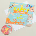 'Wow You're' Themed Birthday Card and Personalised Badge additional 9
