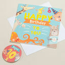 'Wow You're' Themed Birthday Card and Personalised Badge additional 10