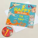 'Wow You're' Themed Birthday Card and Personalised Badge additional 1