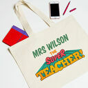 Personalised Teachers Retro Tote Bag additional 2