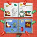 Personalised 'Christmess Advent-ure!' Christmas Advent Book additional 7