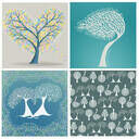 Illustrated Trees Greetings Cards (Set Of Four) additional 2