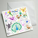 Illustrated Birthday Cards (Set Of Five) additional 5
