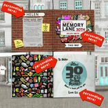 Personalised 30th Birthday Book \'Memory Lane\' additional 3
