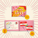 Personalised 'Our Love Story' A5 Book additional 3