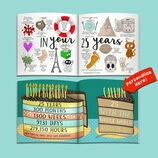 Personalised 'Memory Lane' 25th Birthday Book additional 11