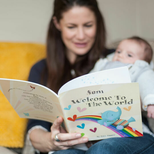 Welcome To The World Personalised New Baby Book