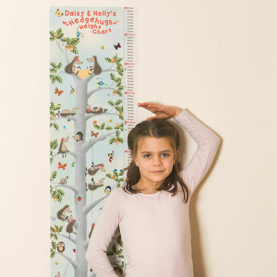 Personalised Hedgehugs Height Chart