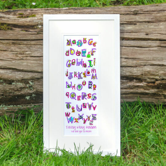 Animal Alphabet Personalised Print