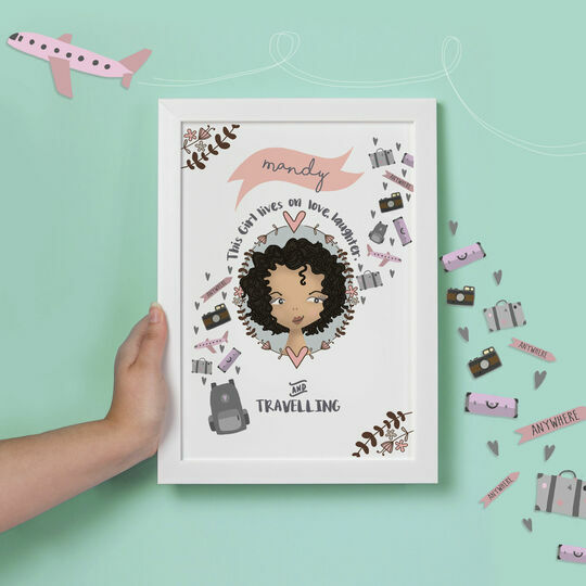 Personalised Illustrated 'This Girl' Print For Her