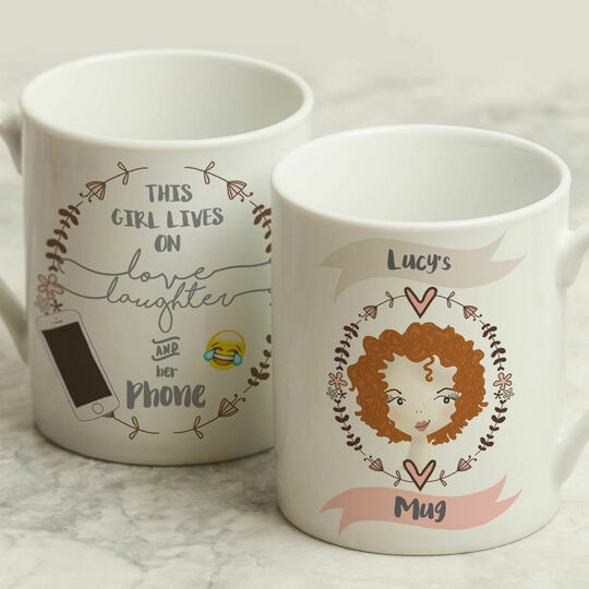 Personalised Illustrated 'This Girl' Mug For Teenagers