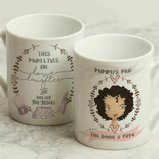 Personalised Illustrated 'This Girl' Mug For Mum