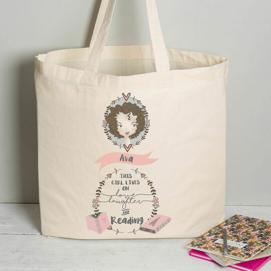 Personalised Illustrated 'This Girl' Tote Bag For Teenagers