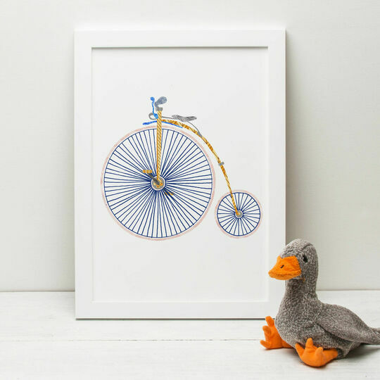 Penny Farthing Illustrated Print