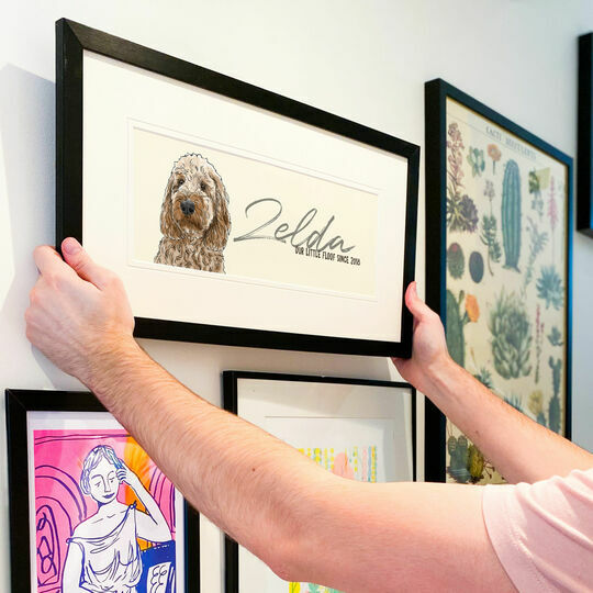 Bespoke Personalised Illustrated Portrait of Your Dog
