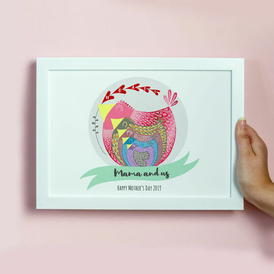 Mama Bird Personalised Framed Print