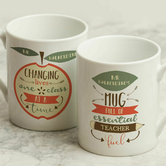 Personalised Illustrated Teachers Mug