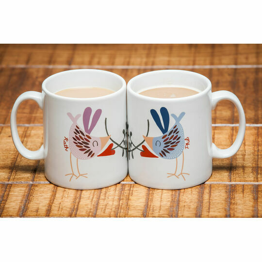 Love Bird Mugs (Set Of Two)