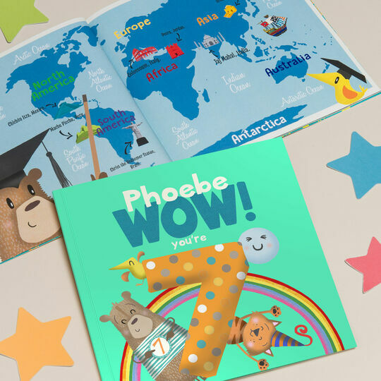 'Wow You're Seven' 7th Birthday Children's Book