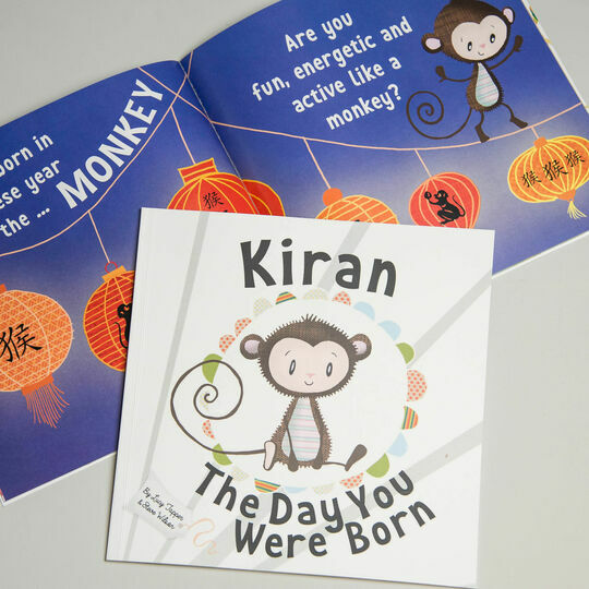 'The Day You Were Born' Personalised New Baby Book - Hardback