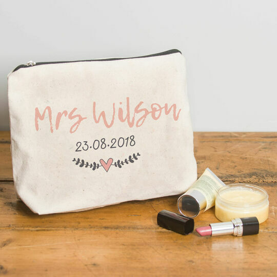 Personalised Make Up Bag For Brides