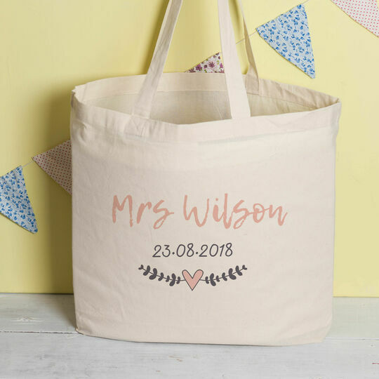 Personalised Tote Bag For Brides