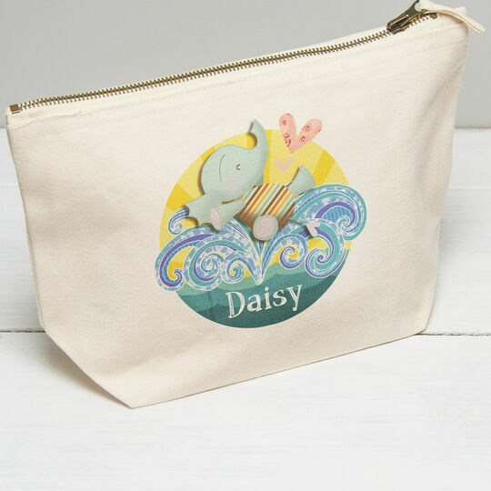 Personalised Elephant Wash Bag