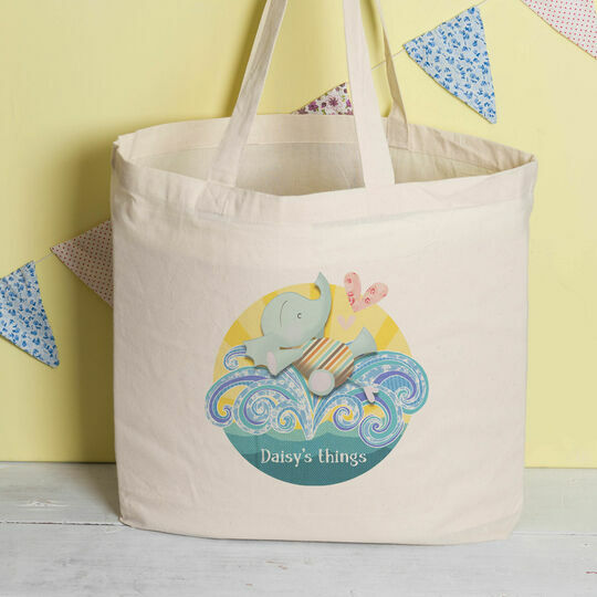 Personalised Elephant Tote Bag