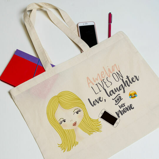 Personalised Hobby Tote for Teenagers