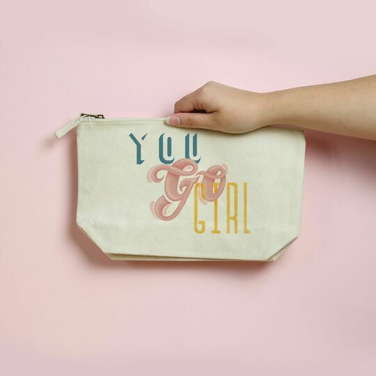 You Go Girl Illustrated Wash Bag