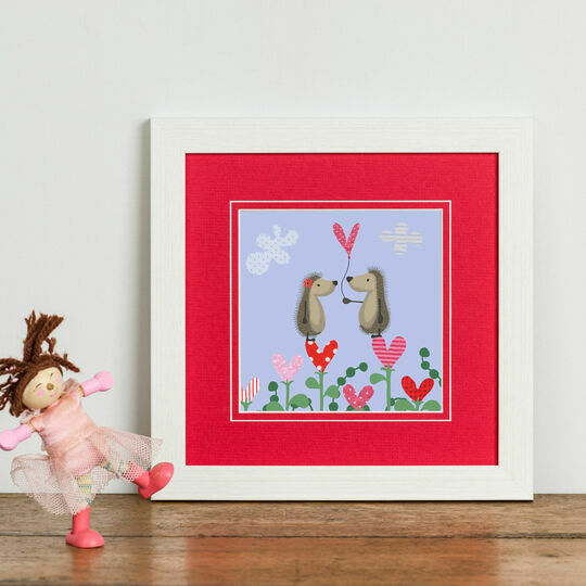 Hedgehugs 'Love Heart' Framed Print