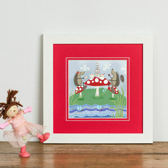 Hedgehugs 'Tea Party' Framed Print