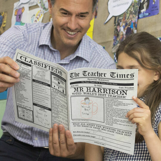 'The Teacher Times' Personalised Newspaper for Teachers