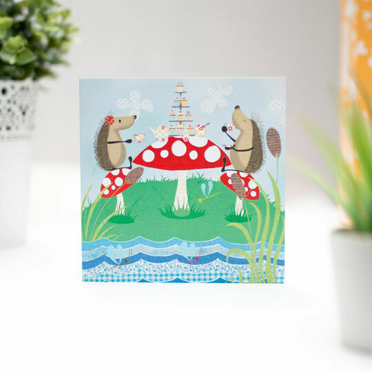 Hedgehugs 'Tea Party' Greetings Card
