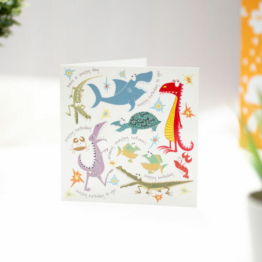 Snappy Birthday Illustrated Birthday Card