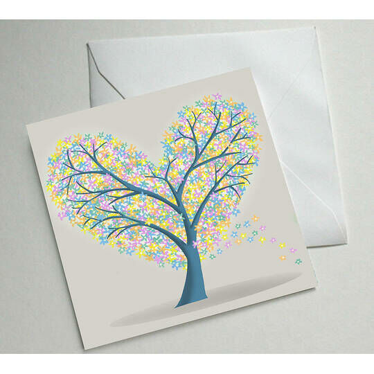 Heart Tree Illustrated Greetings Card