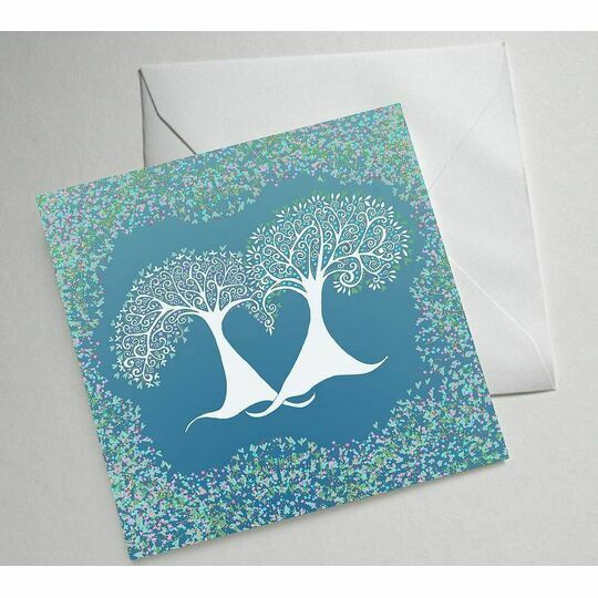 Winter Trees Illustrated Greetings Card