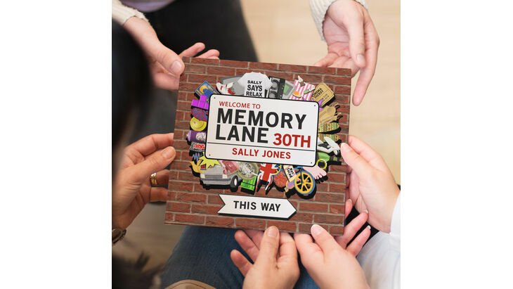 Personalised 30th Birthday Book \'Memory Lane\'