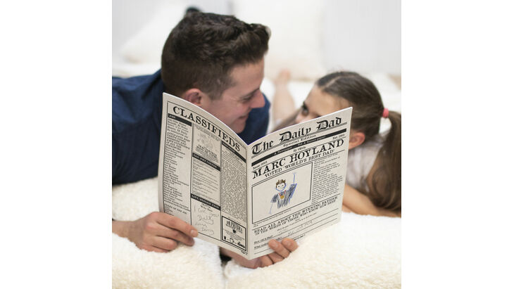 'The Daily Dad' Personalised Newspaper for Dads