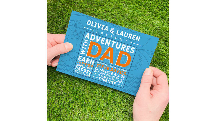 Personalised \'Adventures With Dad\' A5 Book