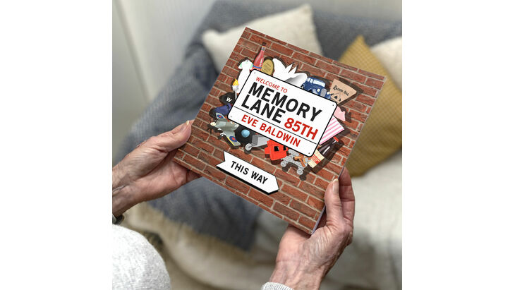 Personalised 85th Birthday \'Memory Lane\' Book